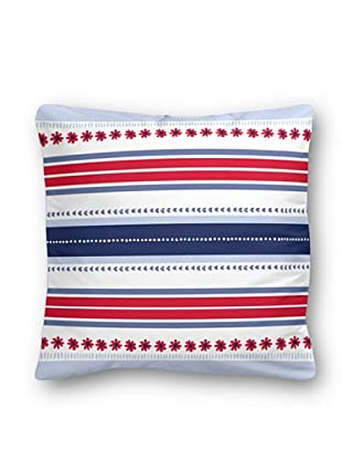 Casual Textil Cojín Susistripe (Azul/Rojo)