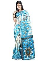 Aadhira Women's Poly Cotton Saree (Aadhira-Ps-387_Multicolored)