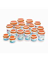 Cello Fashion Container Set (18 pcs) Orange