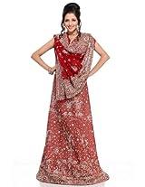 Crimson embroidery lehanga unstitched