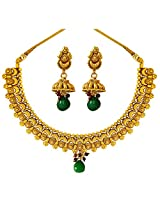 Surat Diamonds Curvy Gold Plated Copper Fine Designer Fashion Jewellery Set for Wedding / Engagement for Women (PS305)