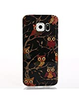 Galaxy S7 Case, Slim Thin Painted Pattern TPU Soft Case Rubber Silicone Skin Cover for Samsung Galaxy S7 (2016) (Many owl)