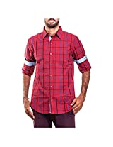 Urban Polo Club Red Multicolored Shirt Extra Large- Full Sleeve