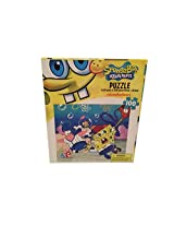 Puzzle Spongebob, Patrick, And Sandy Playing Baseball 100 Piece