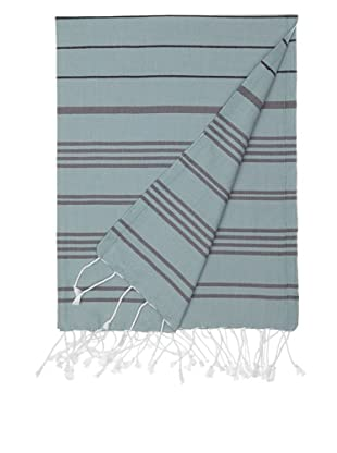 Nine Space Multi-Stripe Fouta Towel (Blue)