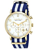 Caravelle New York  Dress Analog White Dial Men's Watch - 44B107