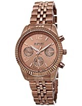 August Steiner Women's AS8103RG Swiss Quartz Multifunction Rose-tone Stainless Steel Bracelet Watch