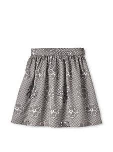 Kiddo Girls Flower Print Skirt (Gray)