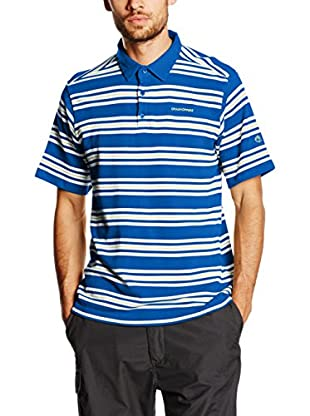 Craghoppers Polo Creston Azul / Blanco L