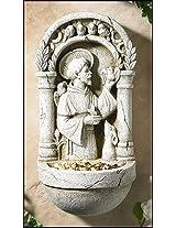Patron of Animals Saint St Francis Bird Feeder Plaque Garden Patio Home Statue