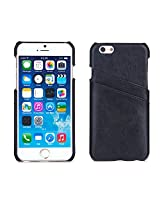 Bear Motion For Iphone 6 Premium Leather Back Cover For Iphone 6 - Black