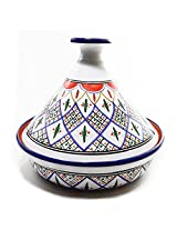 Le Souk Ceramique CT-TK-30 Cookable Tagine, 12-Inch, Tabarka Design