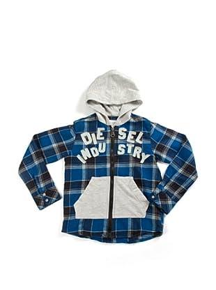 Diesel Kid Hemd (Blau/Grau/Schwarz)