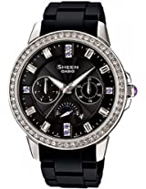 Casio Sheen Analog Black Dial Women's Watch - SHE-3023-1ADR (SX060)
