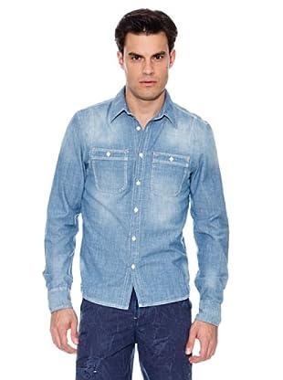 Pepe Jeans London Camisa Burrow (Azul denim)