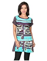 18 FIRE Cotton Kurti with Lace Work and Oragami Work