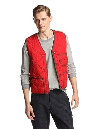 Burkman Bros Men's Quilted Poplin Vest (Red)