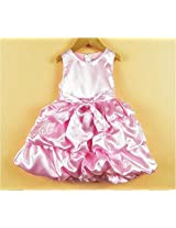 TheTickleToe Baby Infants Girls Satin Party Birthday Gown Dress Pink 4-5 Years