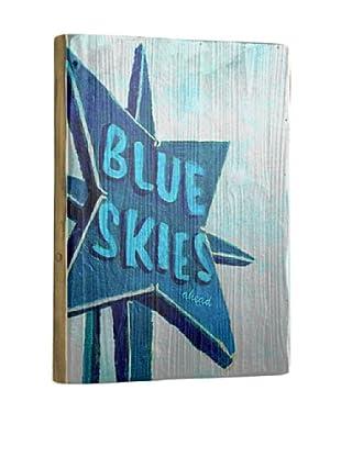 Artehouse Blue Skies Reclaimed Wood Sign