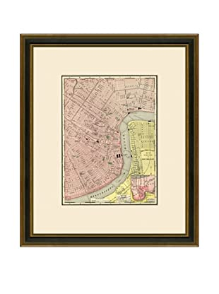 Antique Lithographic Map of New Orleans, 1886-1899