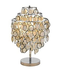 Adesso Shimmy Table Lamp, Chrome