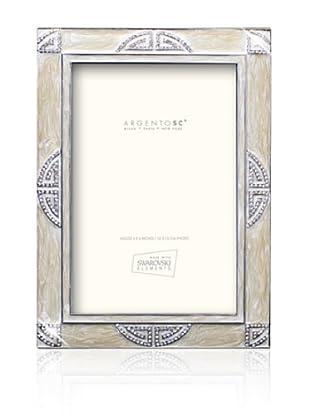 Swarovski by Argento SC Embassy Picture Frame, Ivory, 4