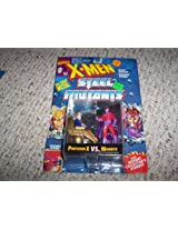 X Men 3 Die Cast Professor X Vs. Magneto Action Figures - Marvel Comics X-Men Steel Mutants With Mutant Collector'S Card