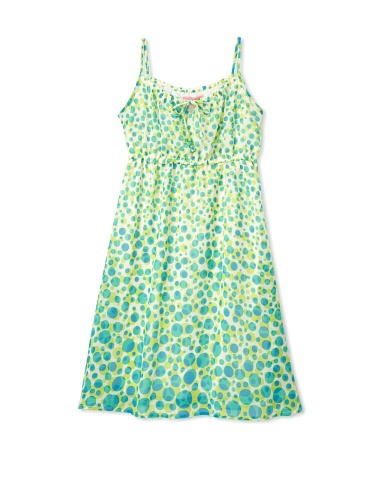 Hype Girls Furry Dot Dress (Chartreuse)