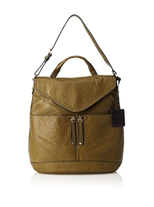 OH by Joy Gryson Women's Unzipped Flap Hobo (Olive)