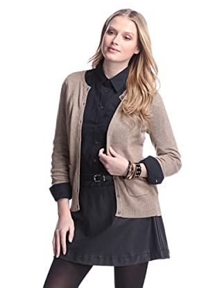 Cashmere Addiction Women's Pocket Cashmere Cardigan (Sable)