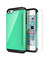 iPhone SE Case, OBLIQ [Skyline Pro][Mint] w/ HD Screen Protector - with Kickstand Slim Fit Bumper Dual Layered Heavy Duty Protection Case for Apple iPhone SE [Compatible with iPhone 5S/5]