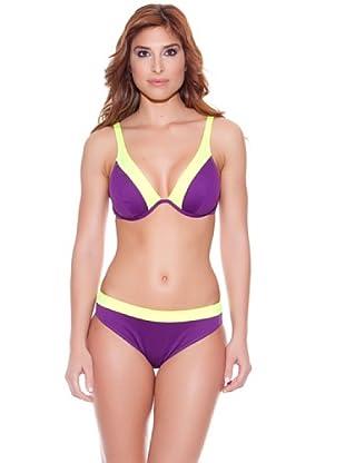 Teleno Bikini Reductor Escote Halter C (Morado)