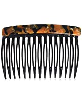 Caravan 15 Teeth Tiger Crystal Comb, 0.5 Ounce