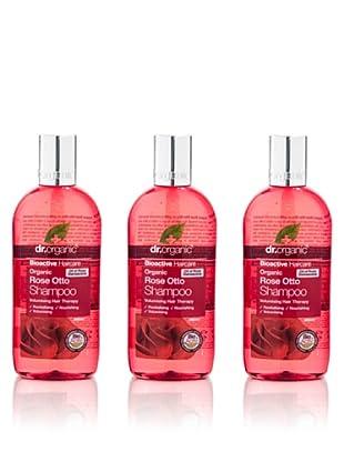 Dr.Organic Set 3 Champús de Rosa de Mosqueta 265 ml (u)