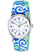 Timex Weekender Reversible Floral Analog White Dial Women's Watch - TW2P90300AA