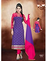 Attractive Designer Pink And Blue Salwar Suit FA217-2011