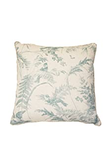 """Lacefield Designs Bird Toile 20"""" x 20"""" Pillow, Teal"""