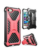 iPhone SE Case, i-Blason Prime [Kickstand] **Heavy Duty** [Dual Layer] Combo Holster Cover case with [Locking Belt Swivel Clip] for Apple iPhone SE 2016 Release (Pink)