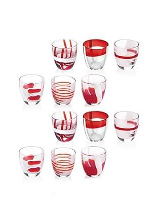 Guzzini Set 12 Bicchierini Liquore Table Art Rosso