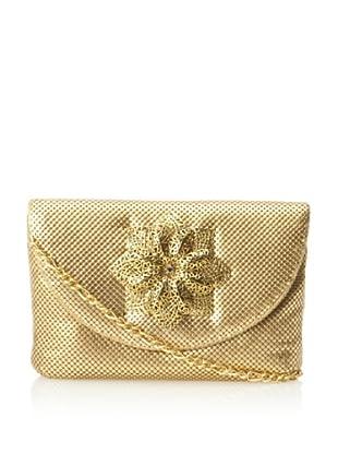 Whiting & Davis Women's Filigree Flower Clutch (Gold)