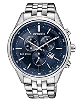 Citizen Eco-Drive Analog Blue Dial Men's Watch - AT2140-55L