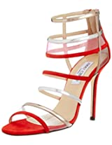 Jimmy Choo for Vogue Women's Red Leather Fashion Sandals - 6 UK