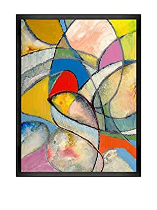 Clive Watts An Abstract Painting Framed Print On Canvas, Multi, 42.5