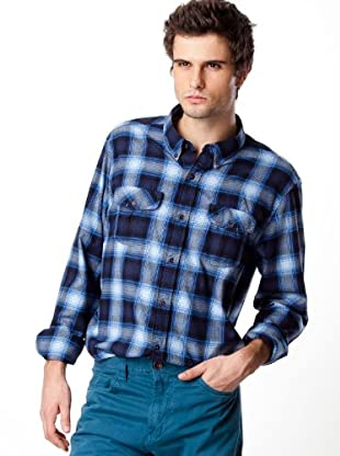Timberland Camisa Cuadros (Azul / Negro)