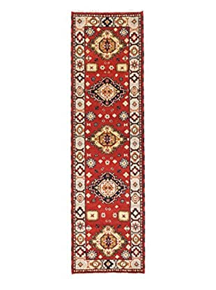 eCarpet Gallery One-of-a-Kind Hand-Knotted Royal Kazak Rug, Light Grey/Red, 2' 9