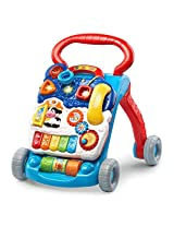 Blue Walker With 2 Colorful Spinning Rollers, 3 Shape Sorters & 3 Light Up Buttons