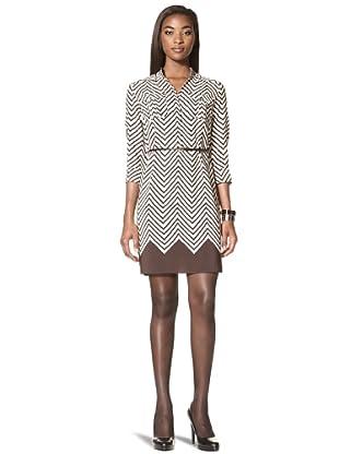 Donna Morgan Women's Sascha Shirt Dress (Brown)