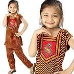 Little India Rajasthani Zigzag Sanganeri Motif Salwar Suit