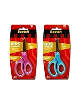 "Scotch Kids 5"" Scissors with Soft Grip Handles - 6 Pack: 3 Blue, 3 Magenta"