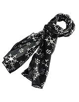 Purple Box Jewelry Christmas Scarf (Black Snowflake)